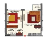 Photo Dragon Towers, 1-bed apartment 631 sq. Ft