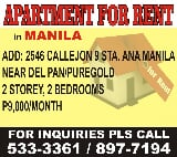 Photo Featured ad apartment for rent in manila