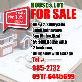 Photo Featured ad house & lot for sale in san mateo...