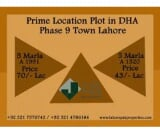 Photo Prime Location Plots In DHA Phase 9 Town Lahore